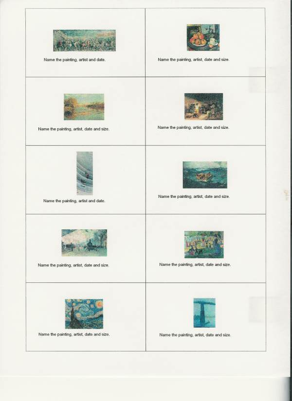 Memorize it flashcards 40 for windows avery business card style with art history decks reheart Images